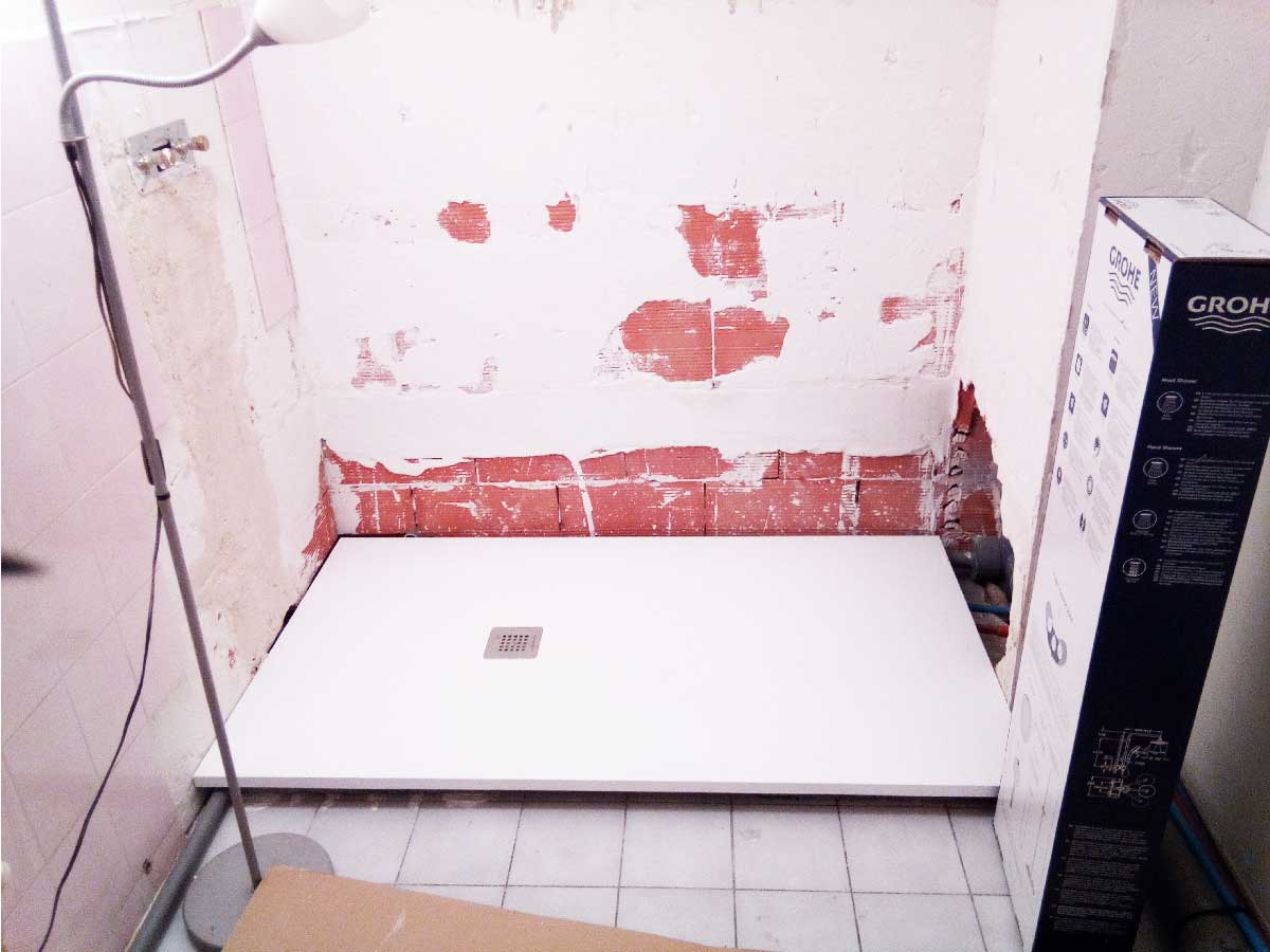 renovation salle d'eau la douche