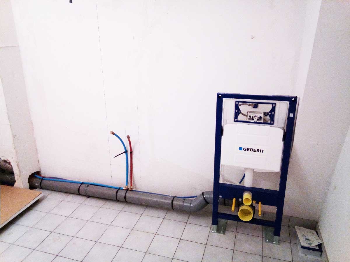 installation toilette suspendu